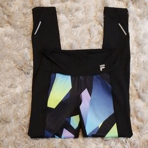 Women's Fila Reflective Running Pants, Size Small